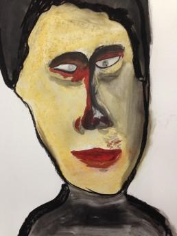 Interrogator: Painting by Kamran Ashtary